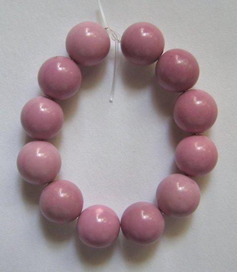 12 Lavender Turquoise Magnesite 8mm Round Beads