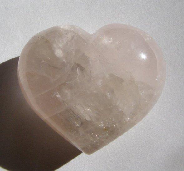 Rose Quartz 38X43 Heart Shaped Pocket/Wrapping Stone