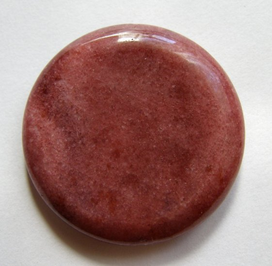Rose Jasper 40mm Disc Pendant Bead