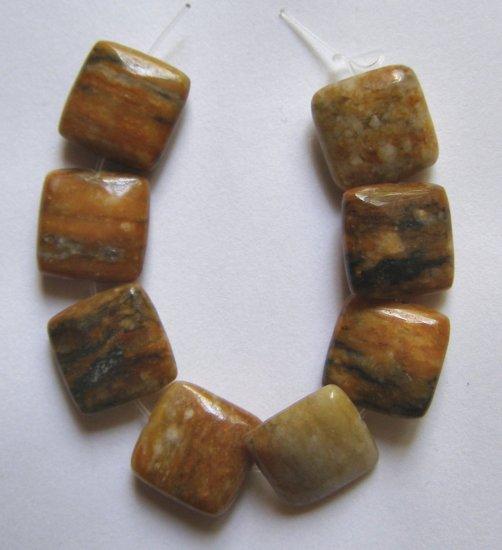 8 Tiger Jasper12x12 Square Beads