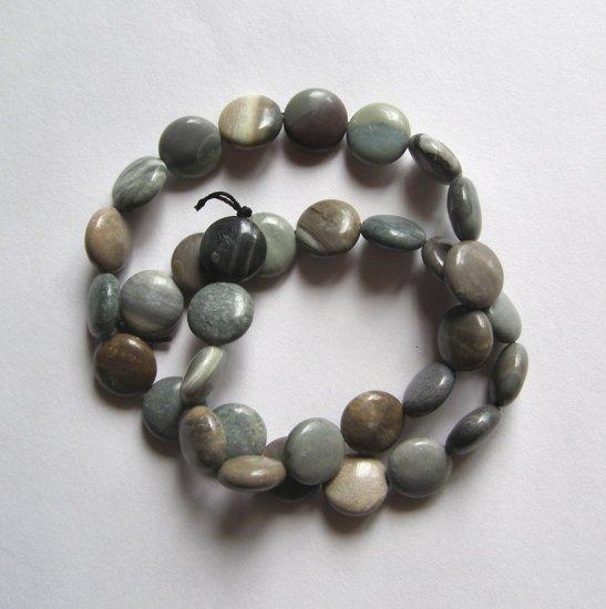"""Oregon Jasper 12x5 Coin Beads 16"""" Strand"""