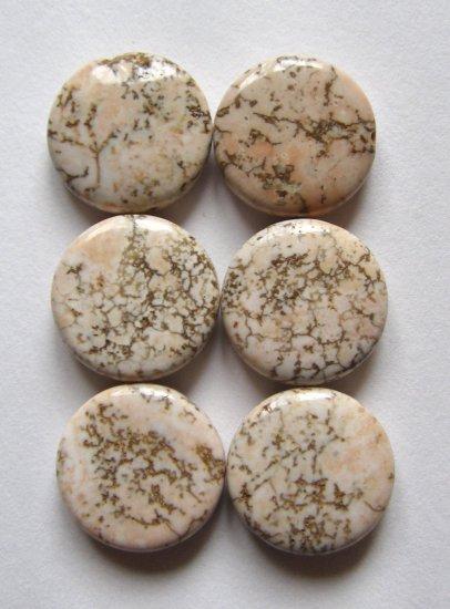 6 Terracotta Blush Magnesite 15x5 Coin Beads