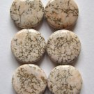 6 Terracotta Blush Magnesite 15x5 Coin Beads