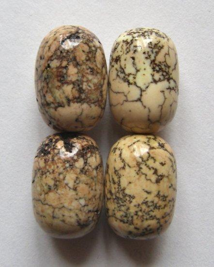 4 Terracotta Blush Magnesite 18x13 Drum Beads