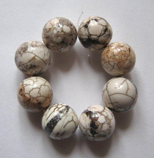 8 Terracotta Blush Magnesite 12mm Round Beads