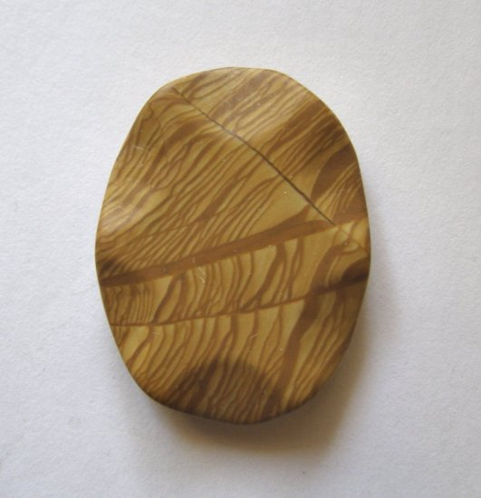 Wood Jasper 49x37 Carved Oval Pendant Bead