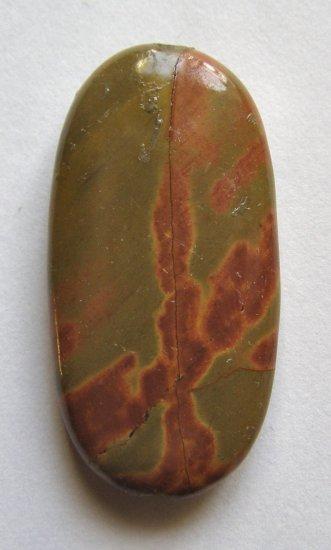 Mud Jasper 40x21 Oval Pendant Bead