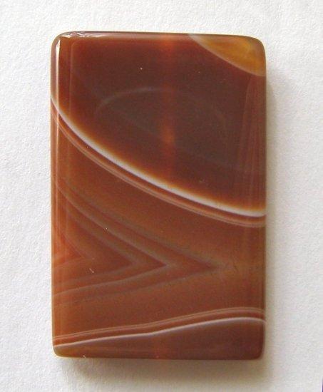 Carnelian Agate 36x23 Rectangle Pendant Bead