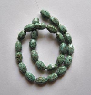 "Turquoise 16x10 Barrel Beads 16"" strand"