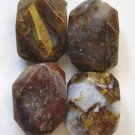 4 Pietersite 20x15 Faceted Nugget Pendant Beads