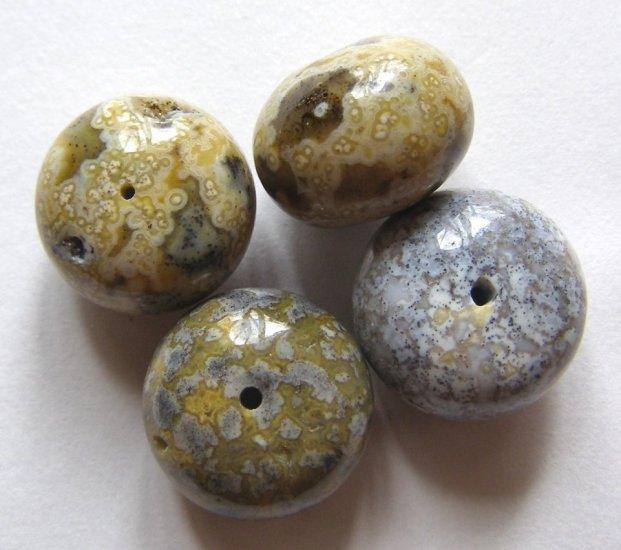 4 Ocean Jasper 16x12 Rondelle Beads
