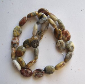 """Crazy Lace Agate 14x10 Oval Beads 15.5"""" strand"""