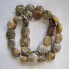 "Crazy Lace Agate 14x5 Coin Beads 15.5"" strand"