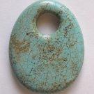 Turquoise Magnesite 51x40 Oval Pendant Bead