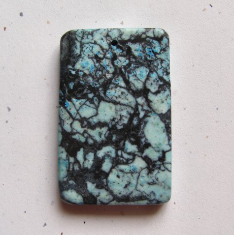 Web Jasper 60x38 Rectangle Pendant Bead