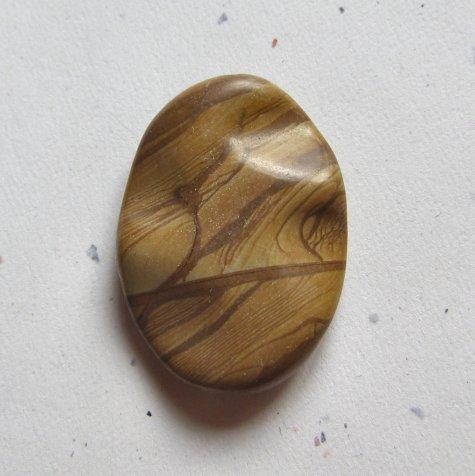 Wood Jasper 34x25 Carved Oval Pendant Bead