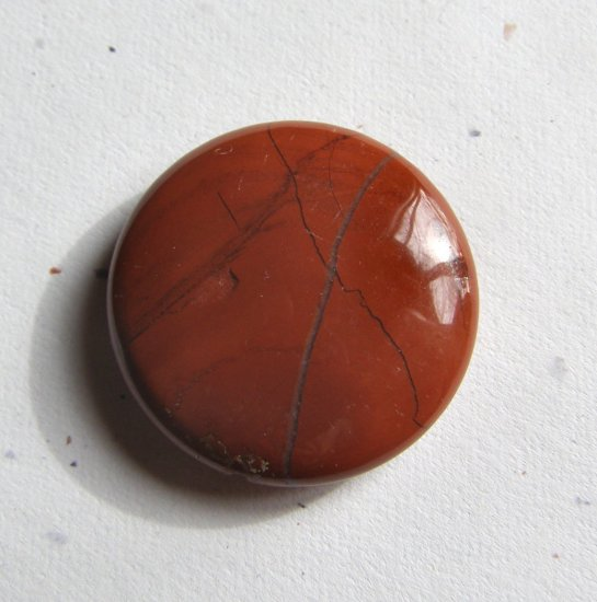 Red Jasper 30mm Disc Pendant Bead