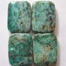4 Natural Chrysocolla 18x14 Rectangle Beads