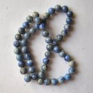 "Denim Lapis 8mm Round  Beads 15"" Strand"