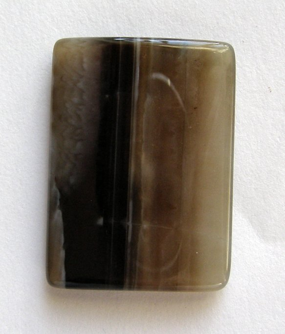 Sardonyx Agate 34x25 Rectangle Pendant Bead