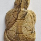 Picture Jasper 35x23 Carved Turtle Pendant Bead