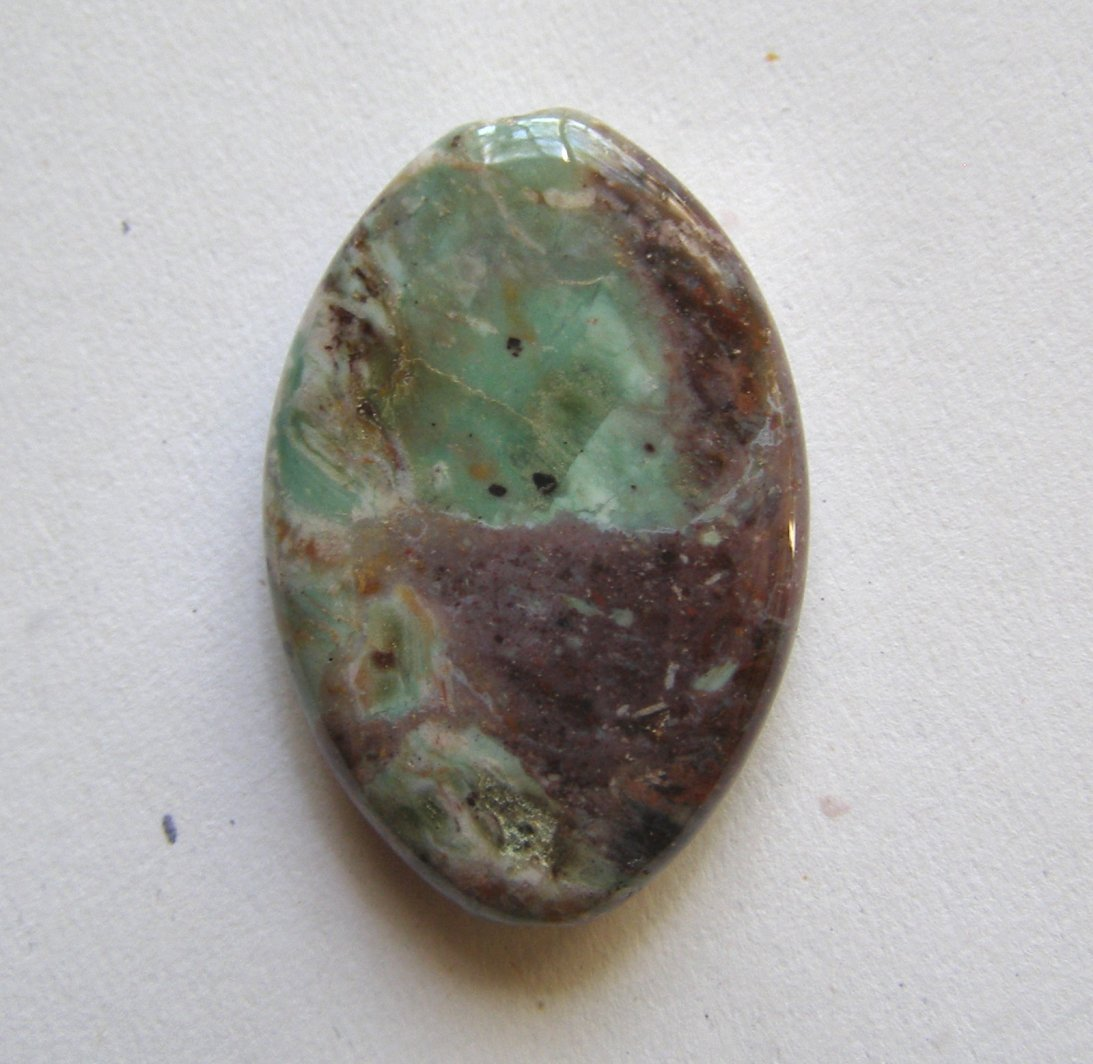 Green African Opal 40x26 Marquise Pendant Bead