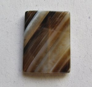 Sardonyx Agate 34x25 Rectangle Pendant Bead