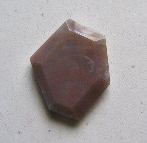Indian Agate 40x32 Wild Cut Pendant Bead