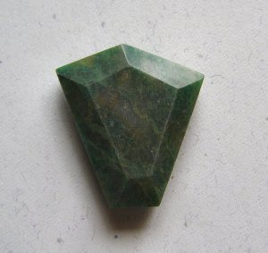 African Jade 35x31 Wild Cut Pendant Bead
