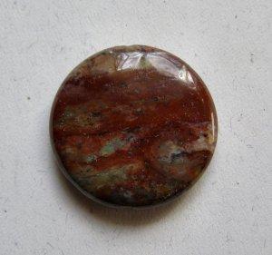Green African Opal 35mm Disc Pendant Bead