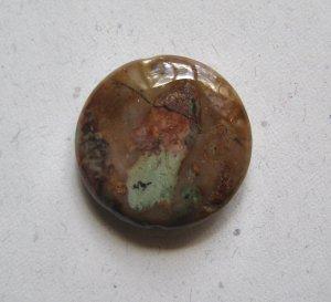 African Green Opal 30mm Disc Pendant Bead