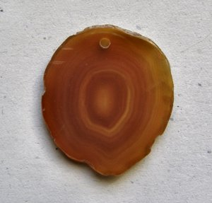 Red Agate 43x38 Natural Slice Pendant Bead