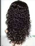 """Indian Remy Curly 1.5mm  16"""" full lace Unit"""