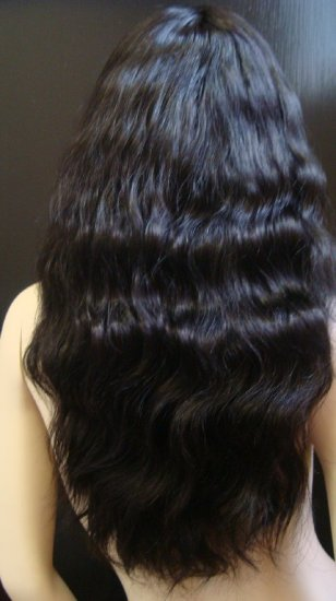 "Indian Remy Natural Wave 18"" full lace Unit"