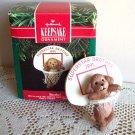 Hallmark Christmas Ornament Puppy Dog and Basketball 1991 Brother