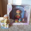 2008 Precious Moments Cookies for Santa and 2003 Poseable Christy Gift Shop Set