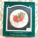 1987 Granddaughter Padded Satin Hallmark Christmas Ornament Sleigh Toys