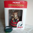 Noma Ornamotion Teddy Bear on a Spin Top Rotating Christmas Ornament