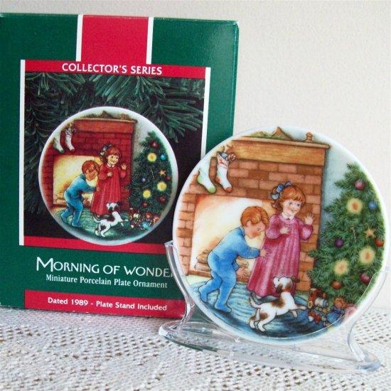 1989 Morning of Wonder Hallmark Christmas Ornament Collector's Plates Series #3