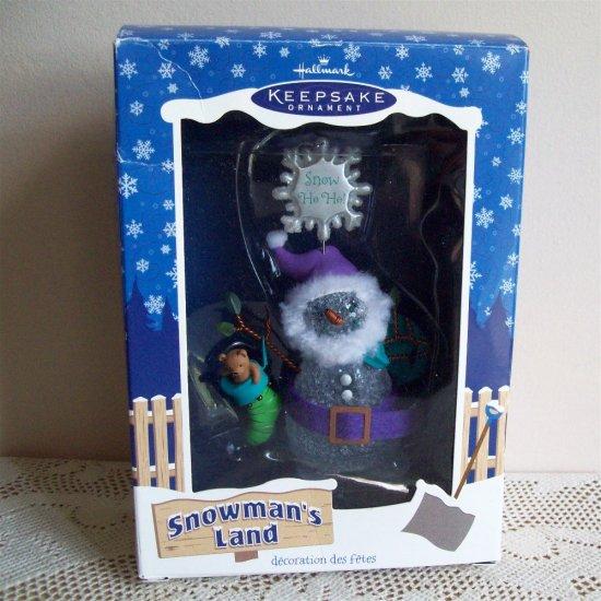 Snowman's Land 2003 Hallmark Christmas Ornament titled Snow Ho Ho