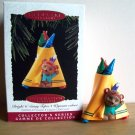 Hallmark Crayola Crayon #7 1995 Bright 'n Sunny Tepee Christmas Ornament Indian Bear