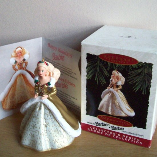 Holiday Barbie 1994 2nd in Series Hallmark Christmas Ornament