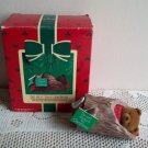 Hallmark Do Not Disturb Bear Christmas Ornament 1985 Log