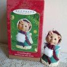 Hallmark Christmas Ornament 2001 Granddaughter Bear with Muff