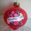 Vintage Red Glass Ball Grandmother 1985 Hallmark Christmas Ornament in box
