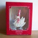 1988 Hallmark Christmas Ornament Sweetheart Swan Sleigh