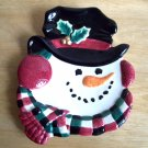 Fitz and Floyd Snowman Canape Christmas Serving Plate