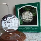 New Home Mirrored Acrylic Hallmark Christmas Ornament 1987