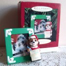Special Dog  Hallmark 1995 Photo Holder Christmas Ornament