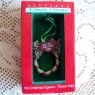 First Christmas Miniature Ornament 1988 Hallmark Wreath